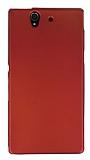 Sony Xperia Z Mat Kırmızı Silikon Kılıf