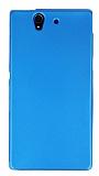 Sony Xperia Z Mat Mavi Silikon Kılıf
