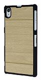 Sony Xperia Z1 Ah�ap G�r�n�ml� Sar� Rubber K�l�f