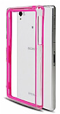 Sony Xperia Z1 Bumper �er�eve Pembe K�l�f