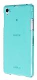 Sony Xperia Z1 �effaf Ye�il Silikon K�l�f