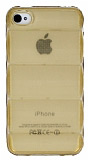 iPhone 4 / 4S Bubble �effaf Gold Silikon K�l�f