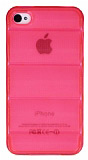iPhone 4 / 4S Bubble �effaf Pembe Silikon K�l�f