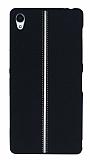Sony Xperia Z3 Kadife Dokulu Siyah Silikon Kılıf