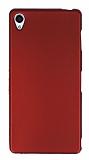 Sony Xperia Z3 Mat Kırmızı Silikon Kılıf