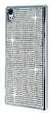 Eiroo Glows Sony Xperia Z3 Plus Taşlı Silver Rubber Kılıf