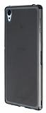 Sony Xperia Z3 Plus �effaf Siyah Silikon K�l�f
