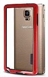 Samsung N9100 Galaxy Note 4 Silikon Bumper Çerçeve Kırmızı Kılıf