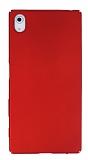 Sony Xperia Z5 Tam Kenar Koruma Kırmızı Rubber Kılıf