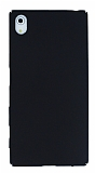 Sony Xperia Z5 Tam Kenar Koruma Siyah Rubber Kılıf