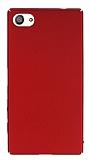 Sony Xperia Z5 Compact Tam Kenar Koruma Kırmızı Rubber Kılıf
