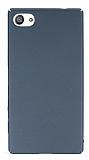 Sony Xperia Z5 Compact Tam Kenar Koruma Füme Rubber Kılıf
