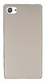 Sony Xperia Z5 Compact Tam Kenar Koruma Gold Rubber Kılıf
