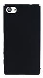 Sony Xperia Z5 Compact Tam Kenar Koruma Siyah Rubber Kılıf