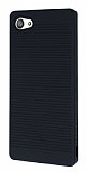 Sony Xperia Z5 Compact Silikon Kenarlı Siyah Kılıf