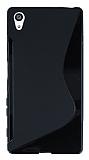 Sony Xperia Z5 Desenli Siyah Silikon Kılıf