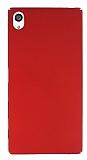 Sony Xperia Z5 Premium Tam Kenar Koruma Kırmızı Rubber Kılıf