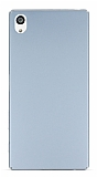 Sony Xperia Z5 Premium Tam Kenar Koruma Silver Rubber Kılıf