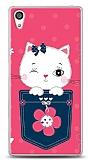 Sony Xperia Z5 Premium Pink Cat Kılıf