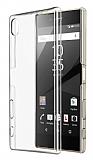 Sony Xperia Z5 Premium Tam Kenar Koruma Şeffaf Rubber Kılıf