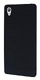 Sony Xperia Z5 Premium Silikon Kenarlı Siyah Kılıf