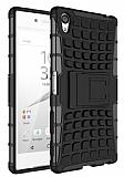Sony Xperia Z5 Premium Ultra S�per Koruma Standl� Siyah K�l�f