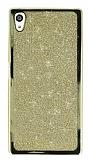 Sony Xperia Z5 Simli Gold Silikon Kılıf