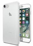 Spigen AirSkin iPhone 7 Ultra İnce Şeffaf Beyaz Rubber Kılıf