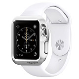 Spigen Apple Watch Slim Armor Ultra Koruma Satin Silver K�l�f (38 mm)