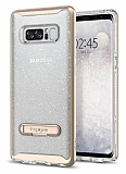 Spigen Crystal Hybrid Glitter Samsung Galaxy Note 8 Gold Kılıf