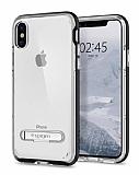 Spigen Crystal Hybrid iPhone X Siyah Kılıf