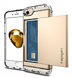 Spigen Crystal Wallet iPhone 7 / 8 Gold Kılıf