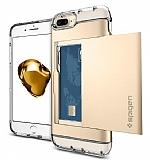 Spigen Crystal Wallet iPhone 7 Plus Gold Kılıf