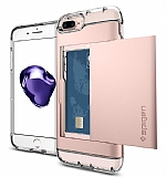 Spigen Crystal Wallet iPhone 7 Plus Rose Gold Kılıf