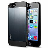 Spigen iPhone 5 / 5S Saturn Gri Rubber K�l�f