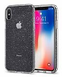 Spigen Liquid Crystal Glitter iPhone X Şeffaf Kılıf