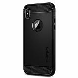 Spigen Rugged Armor iPhone X Ultra Koruma Siyah Kılıf