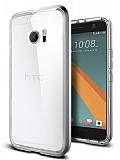 Spigen Neo Hybrid Crystal HTC 10 Ultra Koruma Satin Silver Kılıf