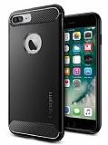 Spigen Rugged Armor iPhone 7 Plus Siyah Silikon K�l�f