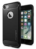 Spigen Rugged Armor iPhone 7 Siyah Silikon Kılıf