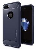 Spigen Rugged Armor iPhone 7 Midnight Blue Silikon Kılıf