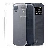 Spigen Samsung i9500 Galaxy S4 Flip Cover Uyumlu Mat Arka Kapak
