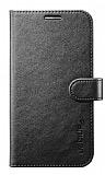 Spigen Samsung i9800 Galaxy S6 Wallet Standlı Kapaklı Siyah Deri Kılıf