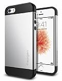 Spigen Slim Armor iPhone SE / 5 / 5S Silver Kılıf