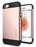 Spigen Slim Armor iPhone SE / 5 / 5S Rose Gold K�l�f