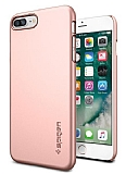 Spigen Thin Fit iPhone 7 Plus Rose Gold Rubber Kılıf