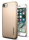 Spigen Thin Fit iPhone 7 / 8 Gold Rubber Kılıf