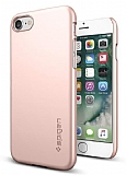 Spigen Thin Fit iPhone 7 Rose Gold Rubber Kılıf
