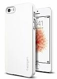 Spigen Thin Fit iPhone SE / 5 / 5S Beyaz Rubber K�l�f
