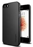 Spigen Thin Fit iPhone SE / 5 / 5S Siyah Rubber K�l�f